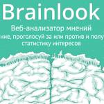 Brainlook — Веб-анализатор мнений