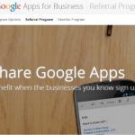Google запускает программу рефералов для Google Apps