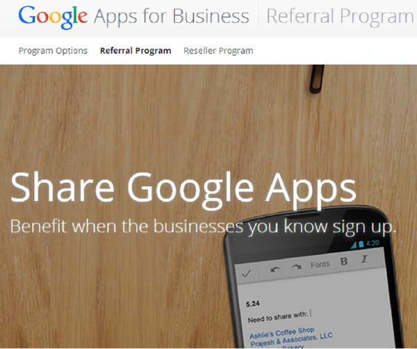 Google Apps Referal