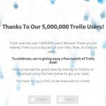 Система управления проектами Trello получила 5 миллионов пользователей