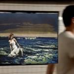 Анимированные GIF-картинки используются в качестве рекламы в метро