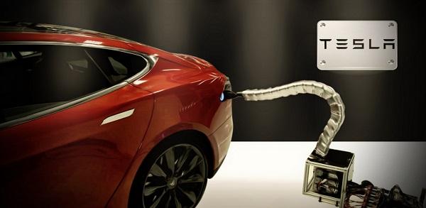Tesla charging robot