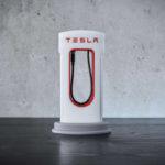 Зарядное устройство в виде фирменной станции Tesla